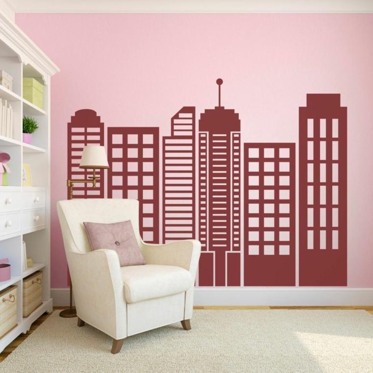 stile rosa bianco grattacieli casa