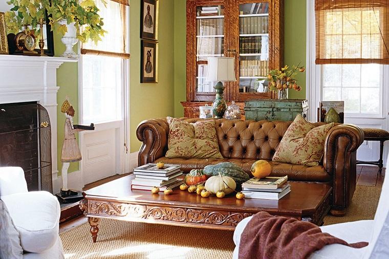addobbi autunnali idee soggiorno casa