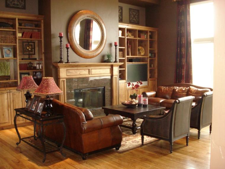 addobbi autunnali soggiorno classico idee