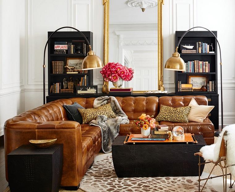 addobbi autunnali soggiorno grande decorato