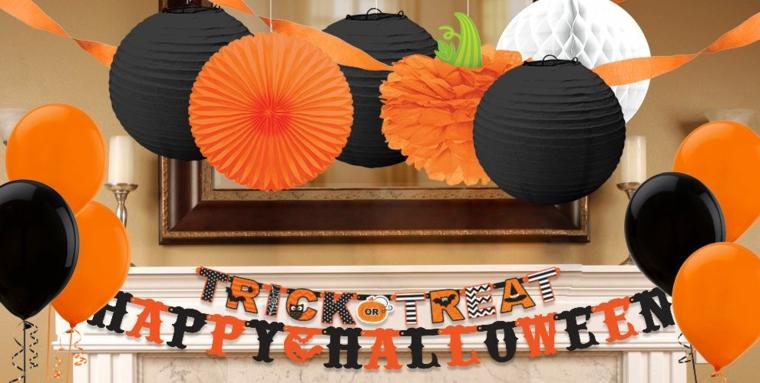 addobbi per halloween carta velina zucca scritta