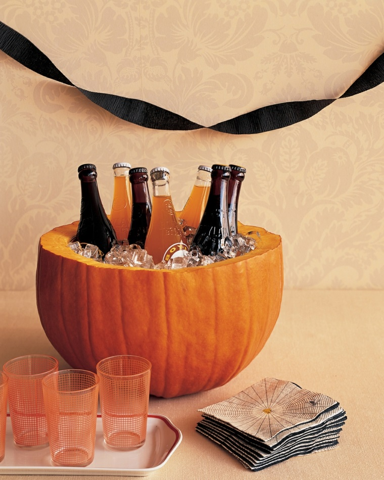 addobbi per halloween zucca bibite tovaglioli