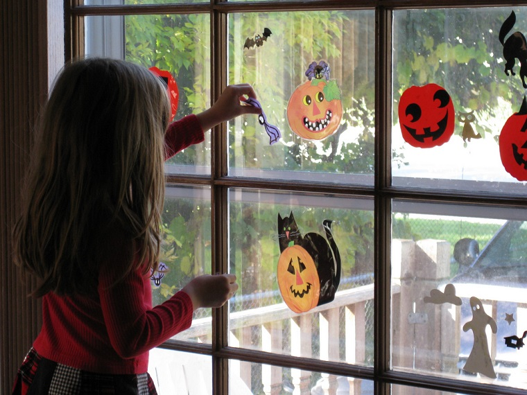 allestimento halloween bambini stickers zucca