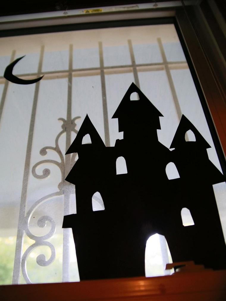 allestimento halloween luna nera castello oscuro stickers