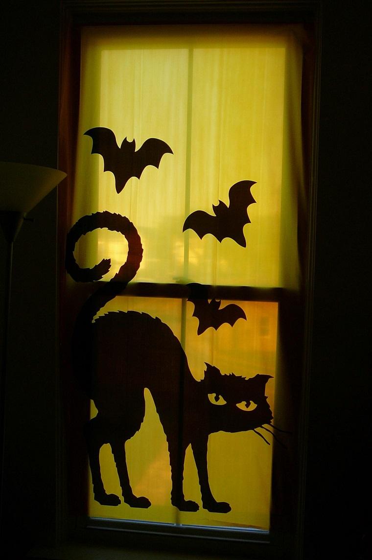 allestimento halloween tenda gatto pipistrelli