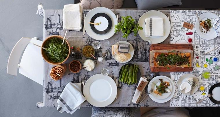 apparecchiare la tavola idee autunnali ruccola parmigiano centrotavola