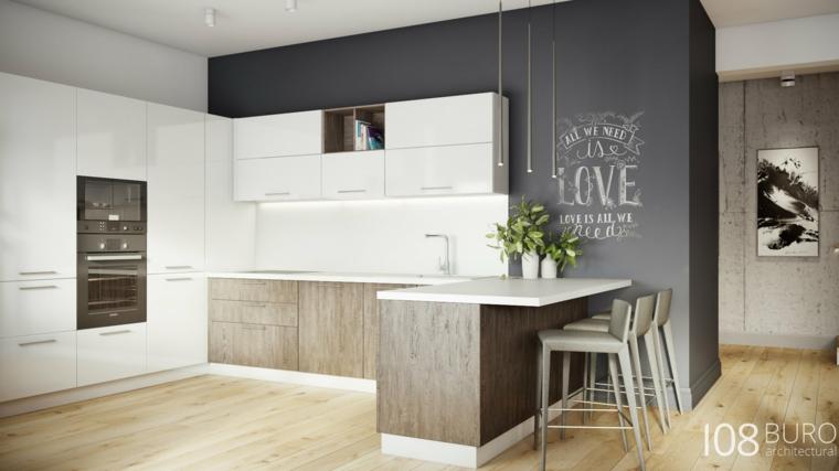 Stile moderno di buro 108 idee per la casa di legno for Arredamento chic moderno