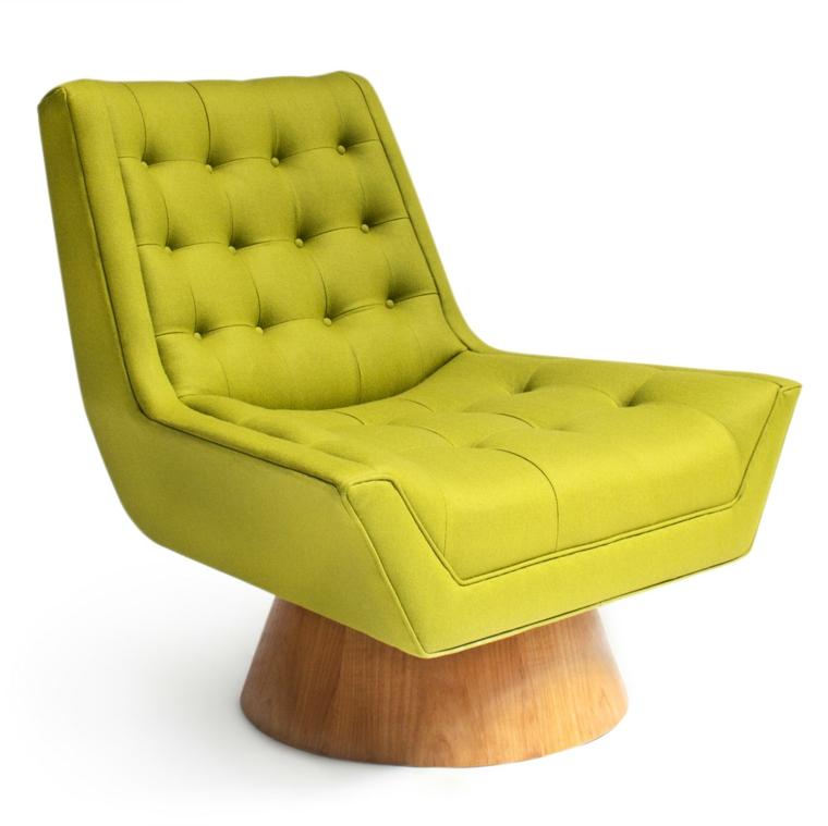 arredamento vintage poltrona verde darà soggiorno familiarità