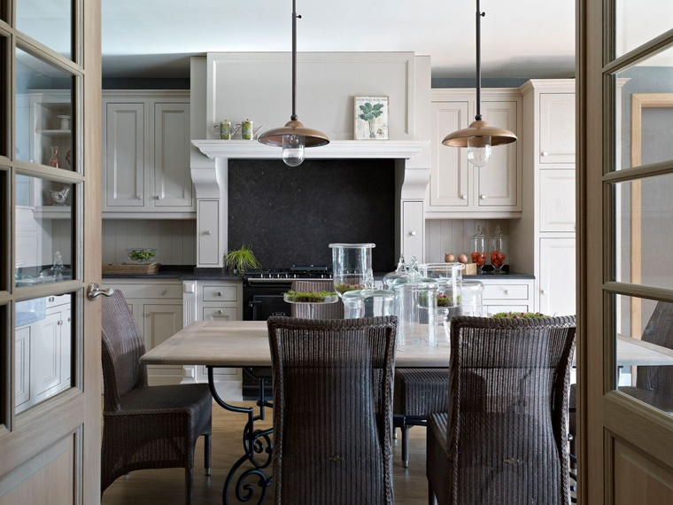 arredamento vintage soggiorno integrato cucina
