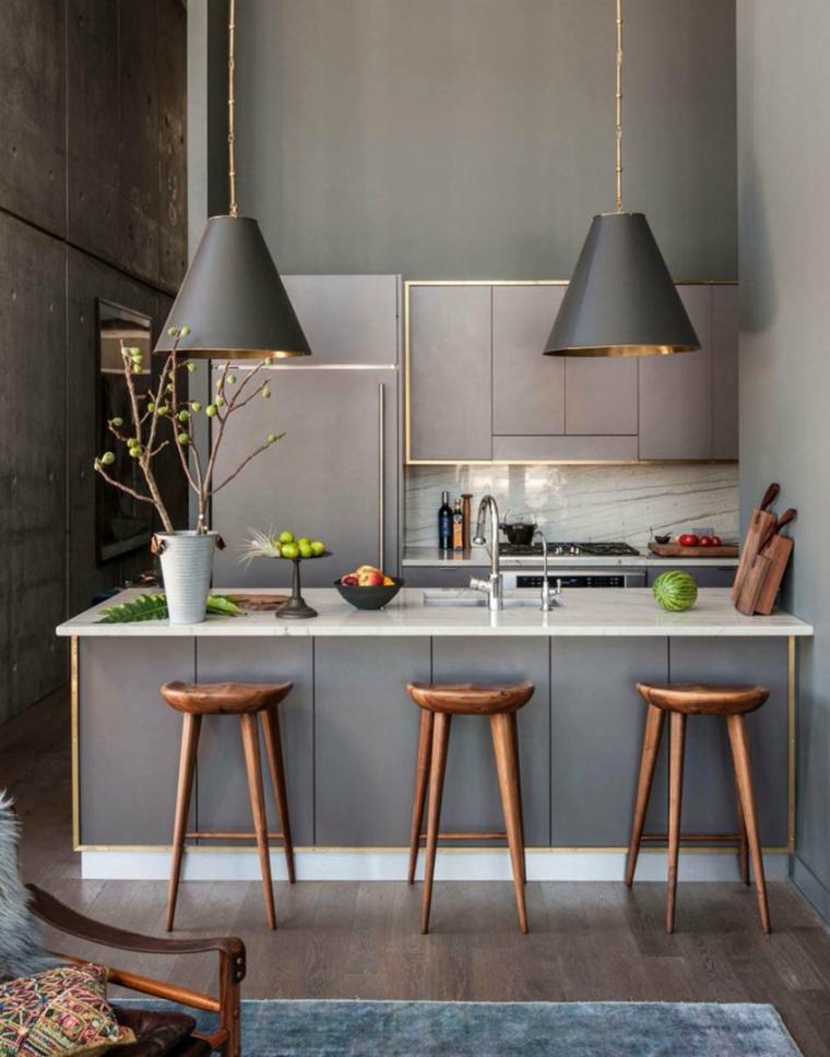 Cucine piccole risparmiare dello spazio con cucine compatte e moderne - Arredare cucina piccola rettangolare ...