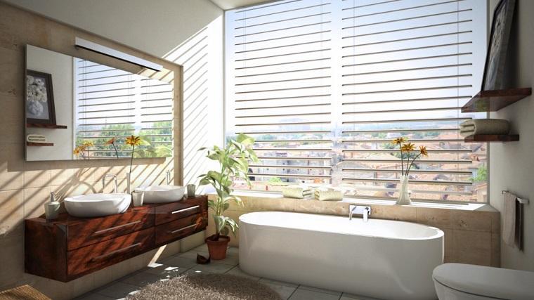 arredare il bagno ambiente luminoso mobili moderni
