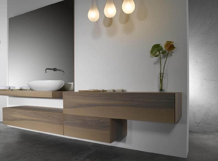 arredare il bagno design originale mobili legno