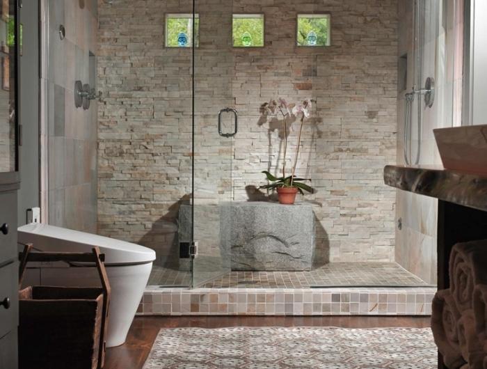 Design Bagno Con Doccia : Idee bagno moderno con inserti in legno e pietra archzine.it