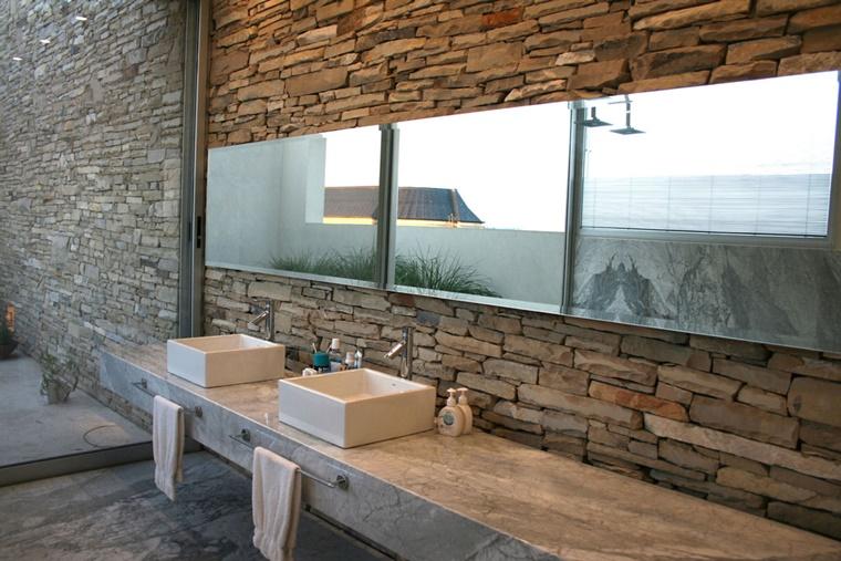 arredo bagno stile moderno lavabo porcellana