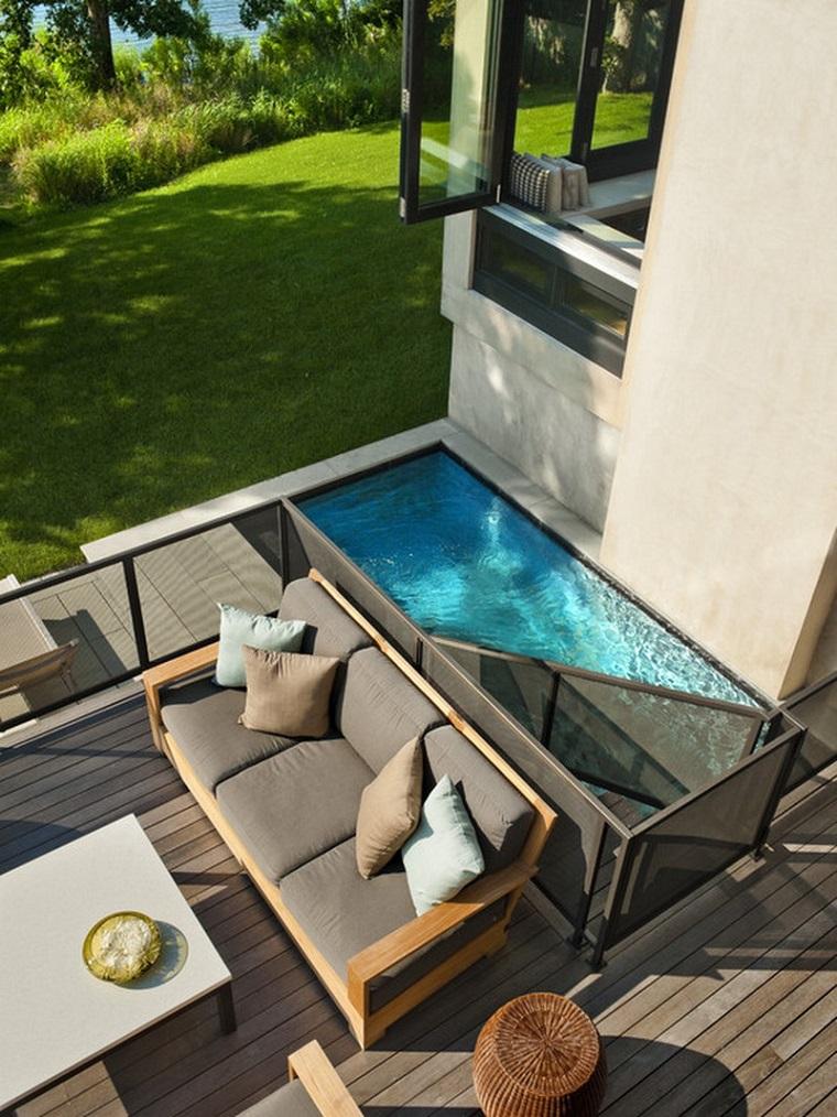 arredo giardino piscinetta piccola divano talovino
