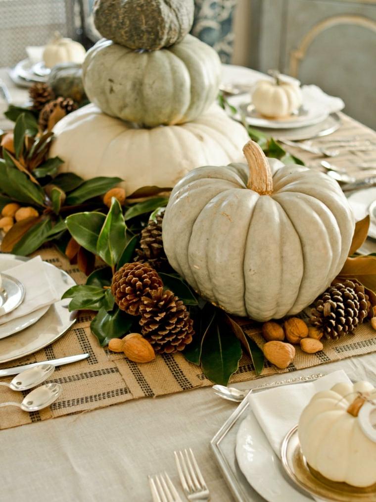 autunno bianco zucca classica gioiello tavola