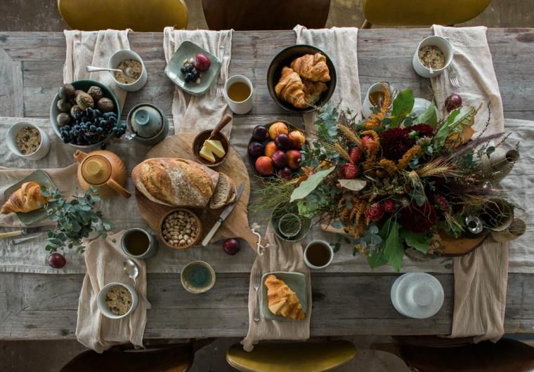autunno colori tenui frutta stagione tavolo