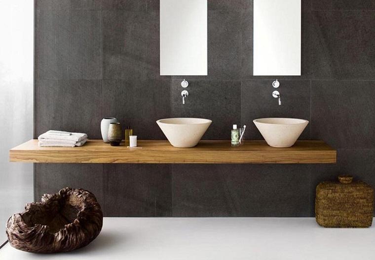 bagno design lavabo fissato parzialmente base
