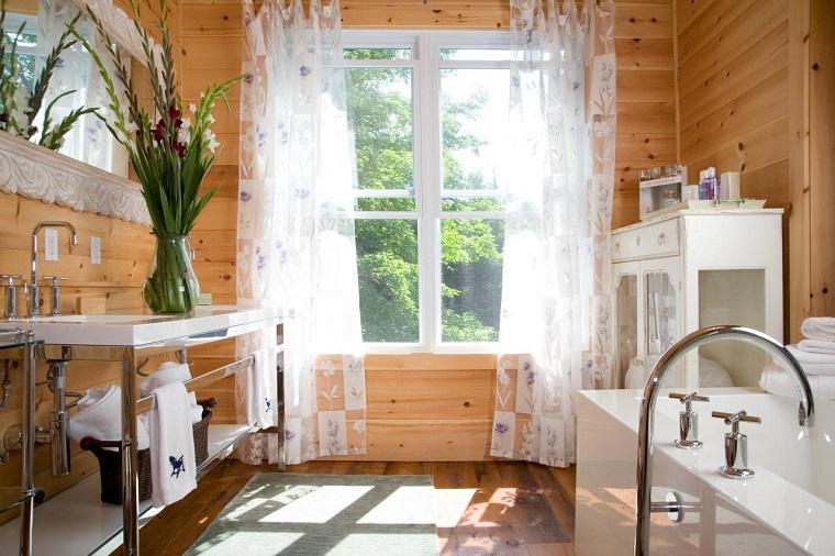 bagno design stile rustico mobili vista