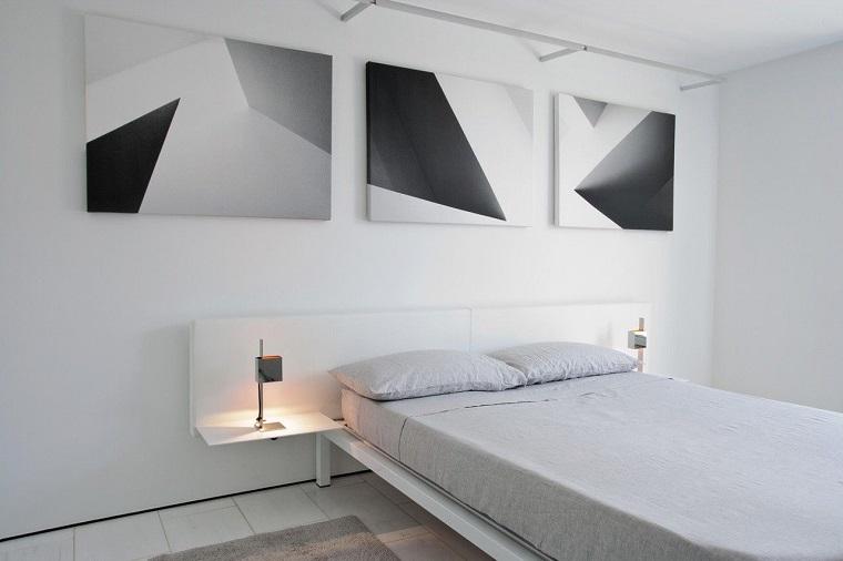 camera da letto moderna minimalista dettaglio