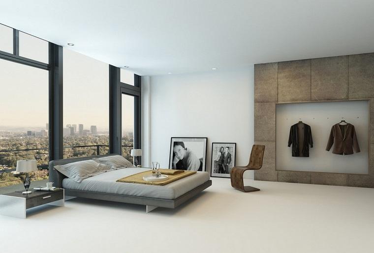 Camera da letto moderna stile minimalista in 34 idee - Archzine.it