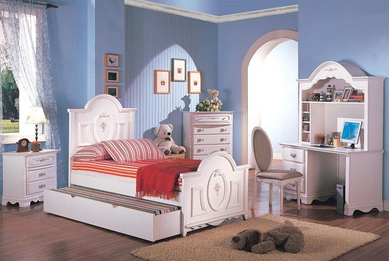 Cameretta per ragazze idee e decorazioni - Colori parete cameretta ...