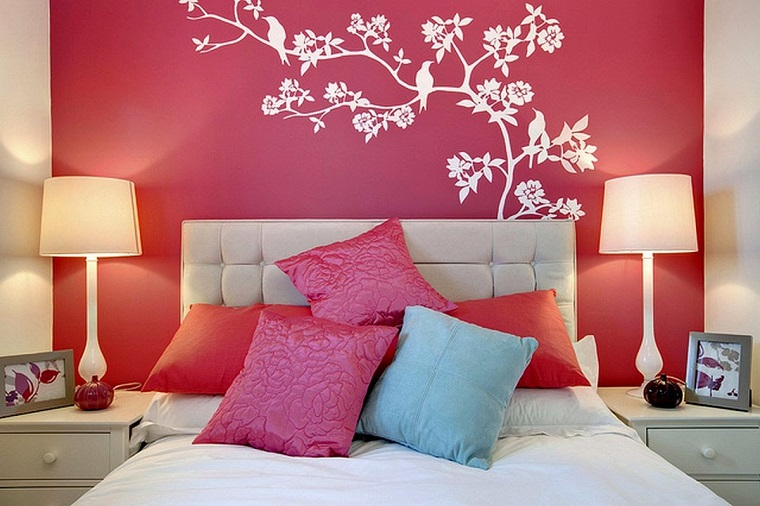camerette per ragazze floreali stencil