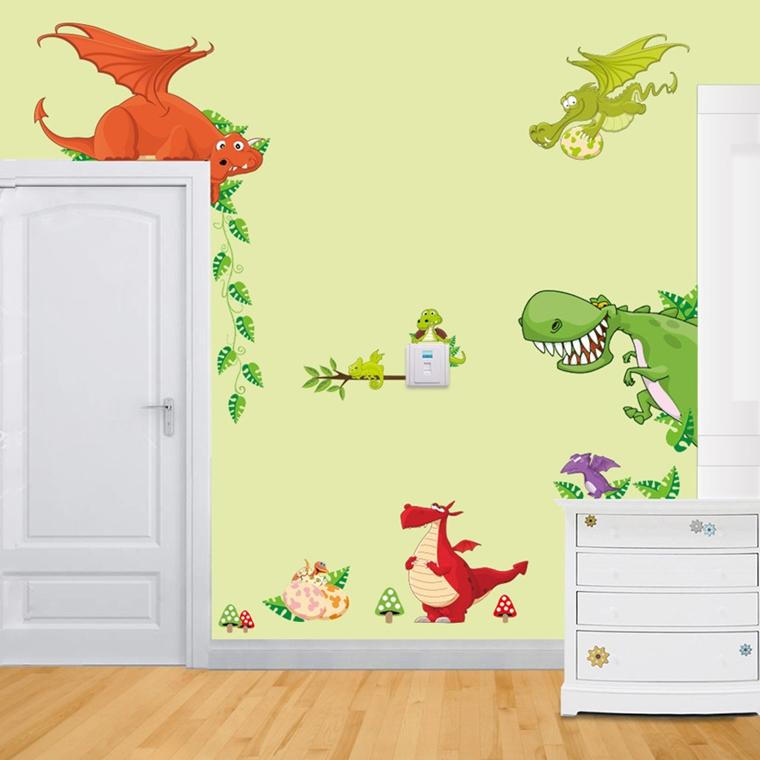 Camerette per ragazzi decorazioni fai da te autunnali - Decorazioni murali camerette ...