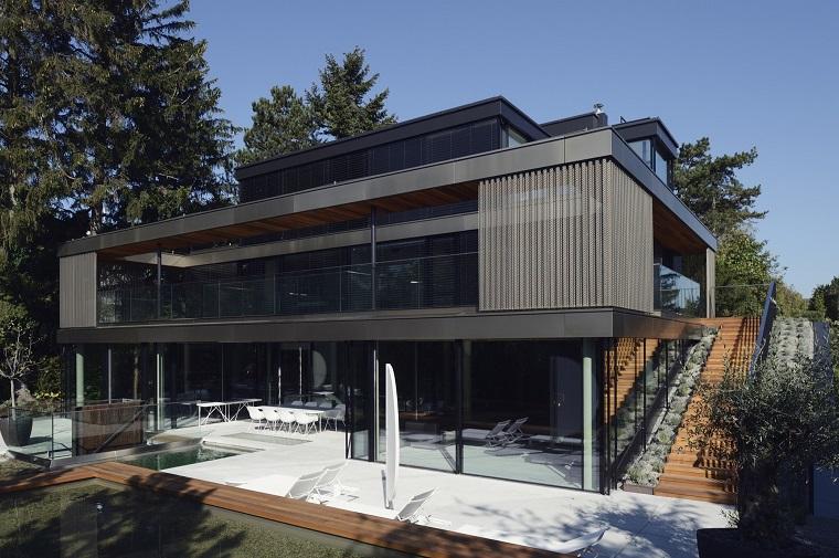 casa vista esterno finestre verde