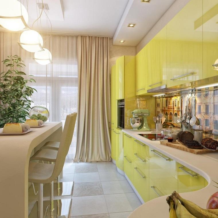 colore cucina giallo stile moderno elegante