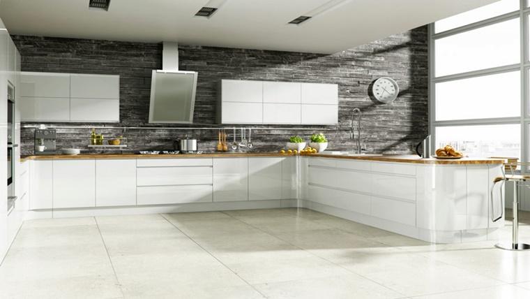 Cucina bianca e lucida la scelta di ogni donna moderna - Cucina moderna bianca ...