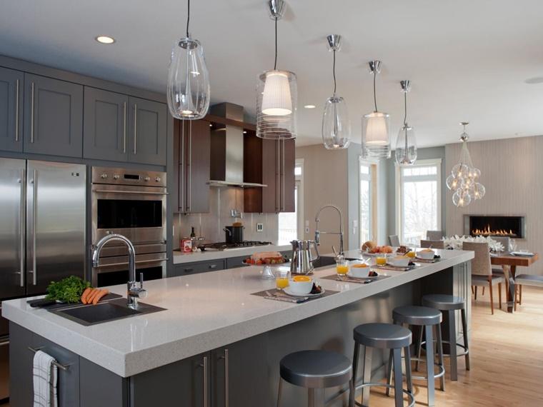 cucina country colore grigio stile moderno