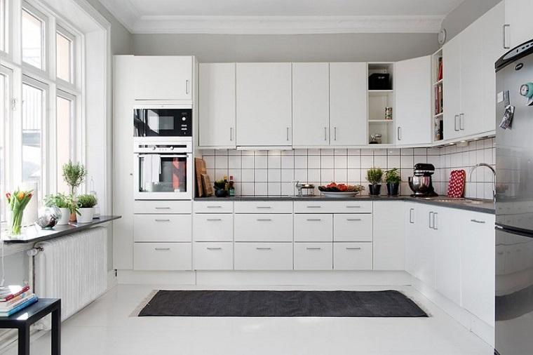 cucina creativa total white elegante