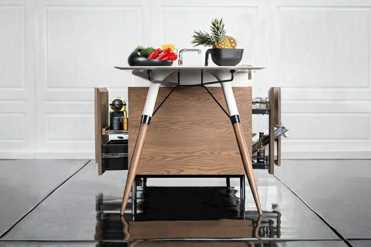 cucina esterno raccoglie tutto necessario lavandino fornelli stoviglie posate