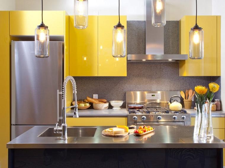 cucina gialla arredamento moderno cucina con isola moderna elegante