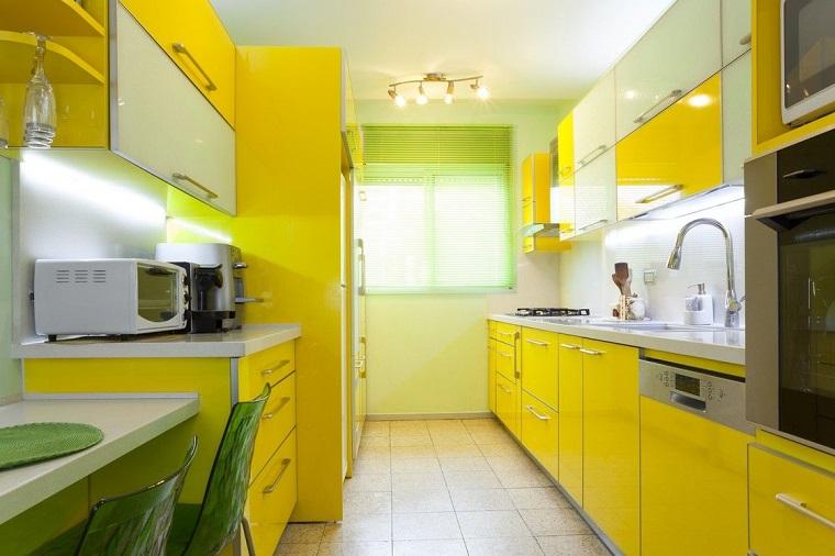 cucina gialla arredo cucina elegante