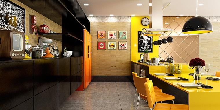 cucina gialla arredo cucina stile moderno