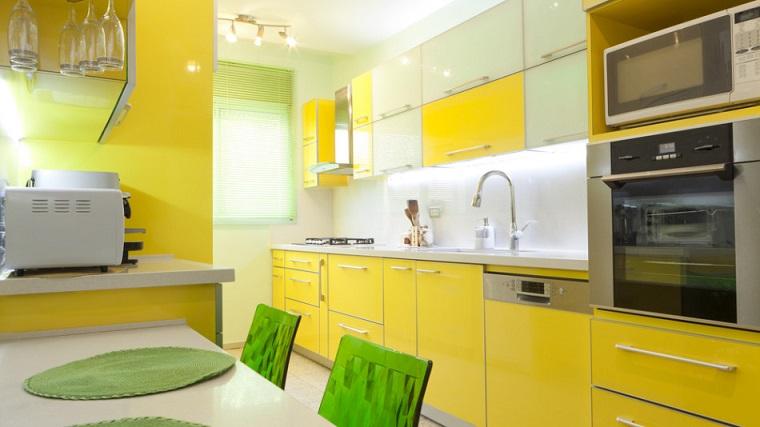 cucina gialla idee design arredamento moderno
