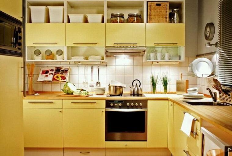cucina gialla idee design stile moderno