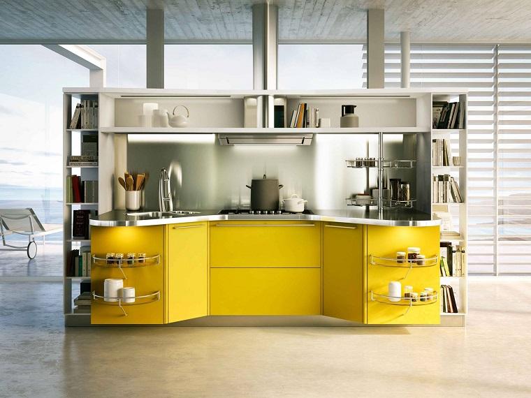 cucina gialla interior design cucina vista