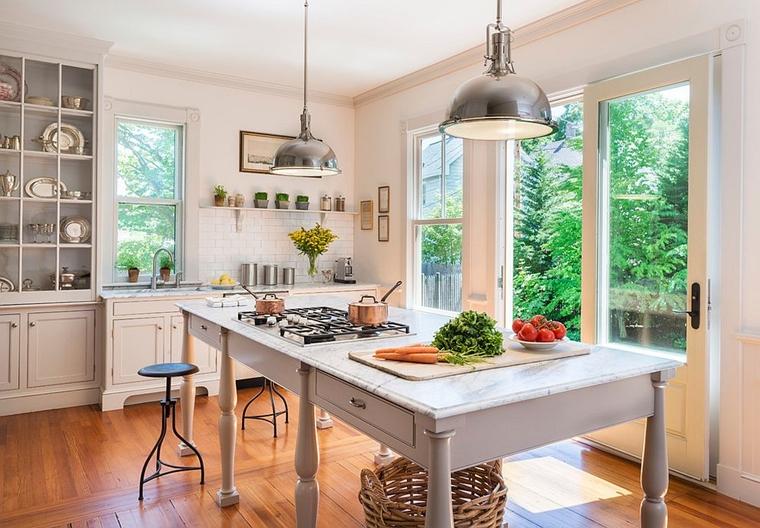 cucina moderna bianco motivi industriali