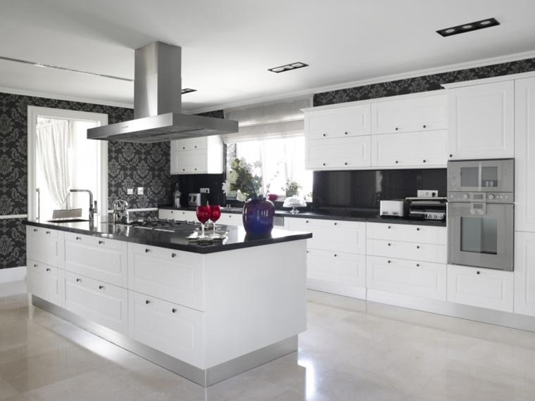 cucina moderna penisola top nero lucido