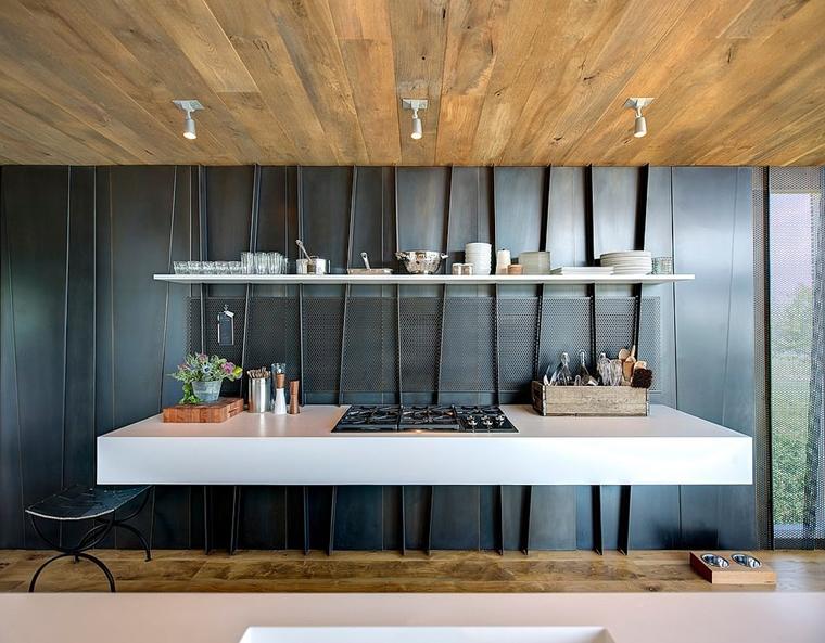 cucina moderna utensili posate portata mano