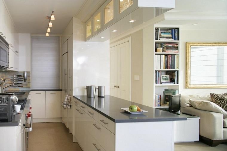 cucina piccola moderna integrata soggiorno