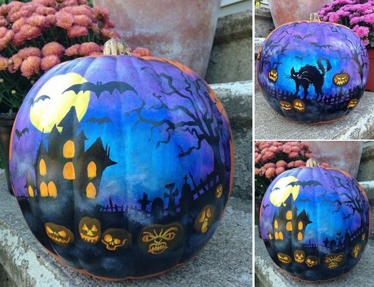 decorazione casa stregata zucche di halloween
