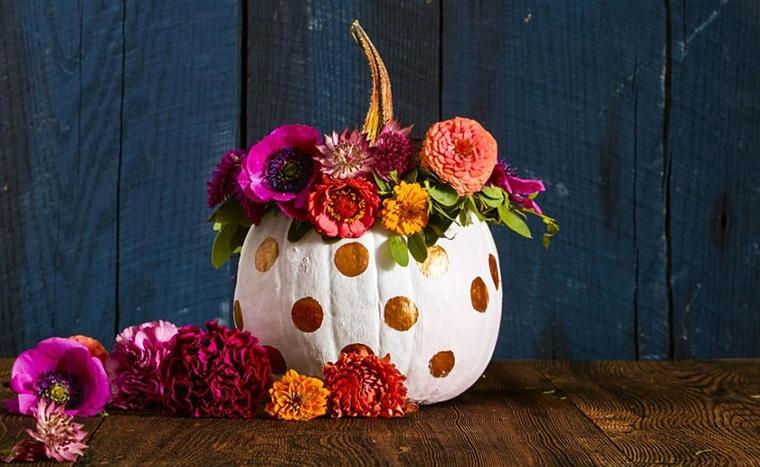 decorazioni halloween fai da te vaso portafiori