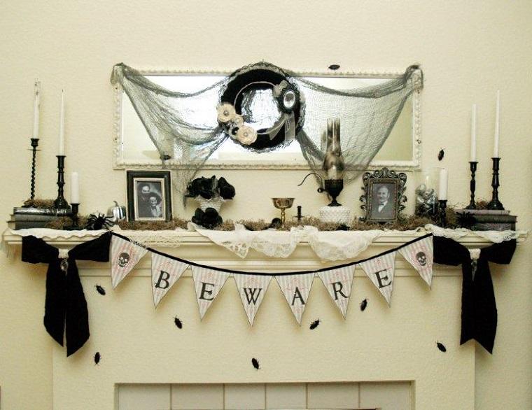 decorazioni halloween scritta stai attento