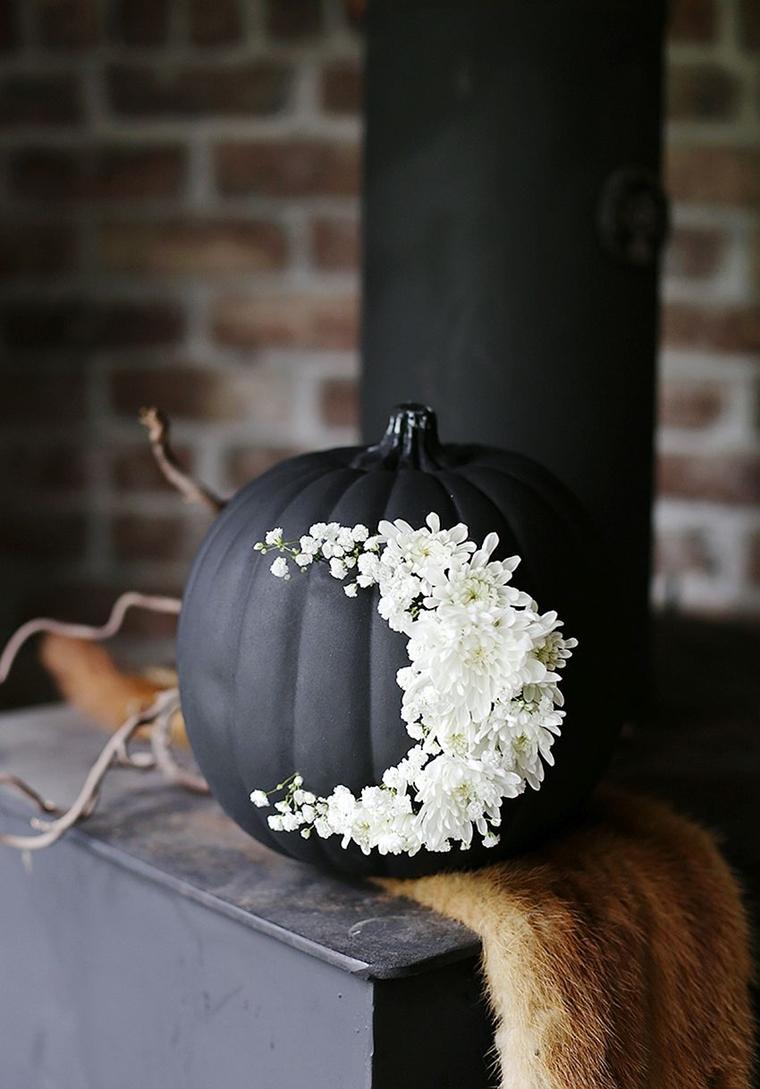 decorazioni halloween zucca tocchi floreali