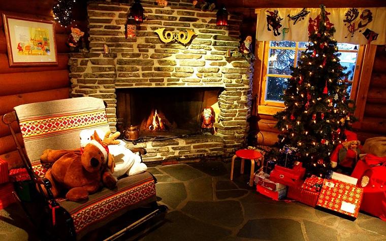 decorazioni natalizie fai da te addobbi salotto