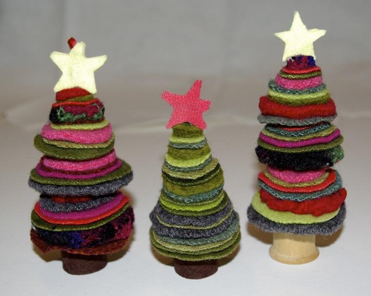 decorazioni natalizie fai da te albero di natale feltro